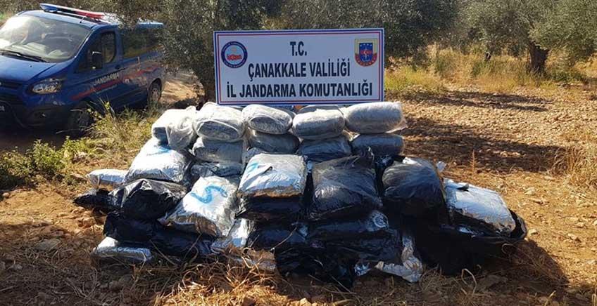 Çanakkale'de 300 Kilo Esrar Ele Geçirildi