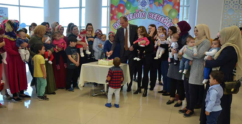 """Biga Belediyesinden """"Hoşgeldin Bebeğim"""" Partisi"""