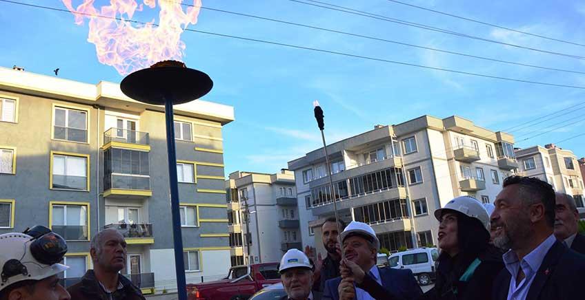 Lapseki'de Doğal Gaz Denemesi Yapıldı